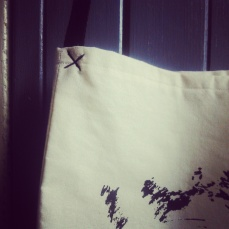 home screenprint sling cotton bag