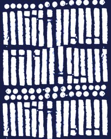 'white stripes blue'